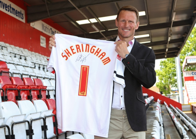 Sheringham will take his first steps into management with Stevenage